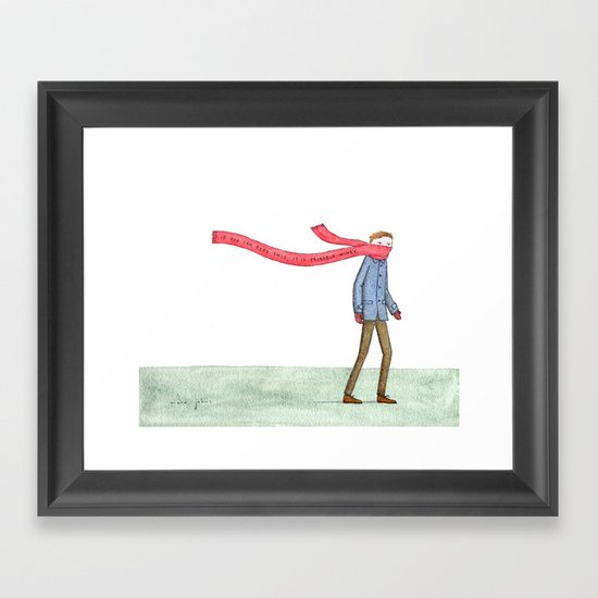 If you can read this, it is probably windy Framed Art Print