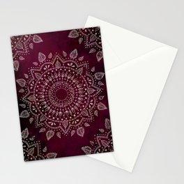 Wine Mandala Stationery Cards