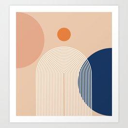 Abstraction_NEW_SUN_SUNLIGHT_LINE_POP_ART_Minimalism_0428A Art Print