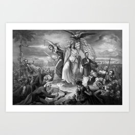 Outbreak Of Rebellion In The United States 1861 Art Print