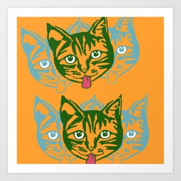 Mollycat Orange Art Print