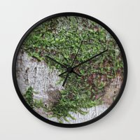 moss Wall Clocks featuring Moss by Cassidy Marshall