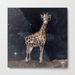 After Hours Giraffe Metal Print
