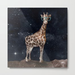 After Hours Giraffe Metal Print