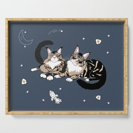 Space Cats Serving Tray