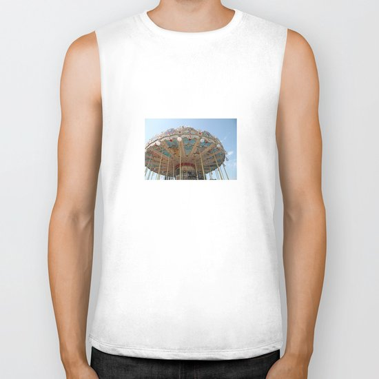 paris carousel Biker Tank