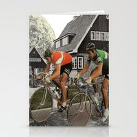 tour de france Stationery Cards featuring Le tour de France by a wardrobe in the space