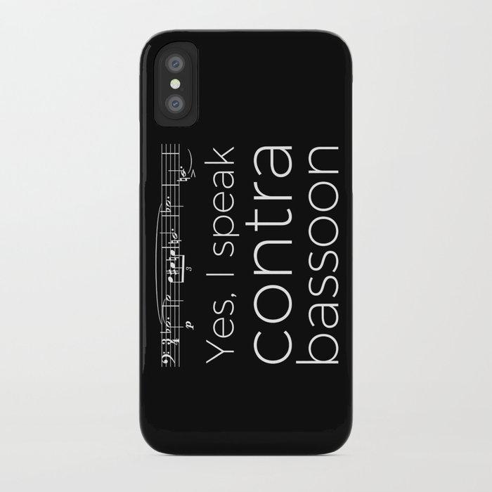 Speak contrabassoon? iPhone Case