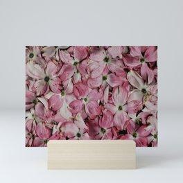Pink Dogwood Collage Mini Art Print