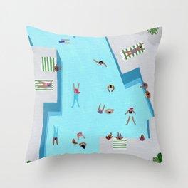 Crisp cut swim Throw Pillow