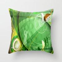 golf Throw Pillows featuring Golf Anyone? by Robin Curtiss