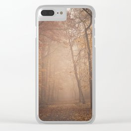 calm autumn Clear iPhone Case