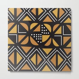 African Tribal Pattern No. 11 Metal Print