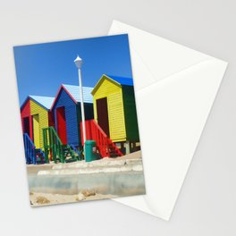 Beach houses at Muizenburg Stationery Cards