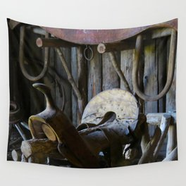 Rustic Saddle Wall Tapestry