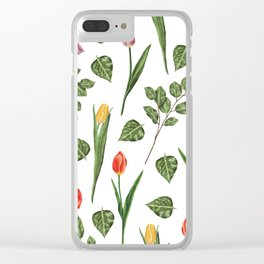 tulips ccm Clear iPhone Case