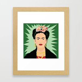 Frida Khalo (Green) | Bad Ass Women Series Framed Art Print