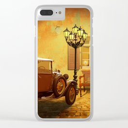 Rooms Vacant, or The Arrival In The Past Clear iPhone Case