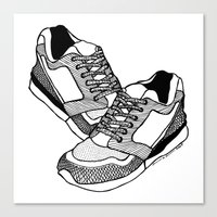 sneakers Canvas Prints featuring Sneakers by Addison Karl