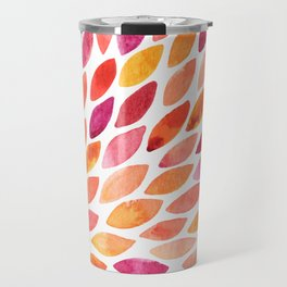 Watercolor brush strokes burst - autumn palette Travel Mug