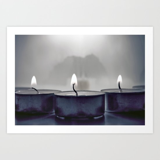 Candle light Art Print