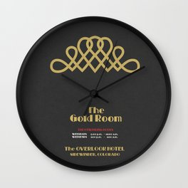 The Gold Room - The Shining - Overlook Hotel Wall Clock