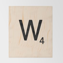 Scrabble Letter W - Scrabble Art and Apparel Throw Blanket