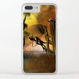 Funny little dinosaur Clear iPhone Case