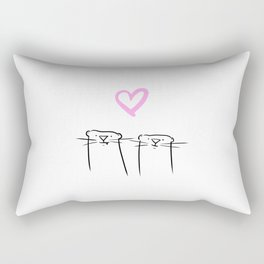 We love each otter Rectangular Pillow