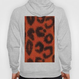 Spotted Leopard Print Tangerine Hoody