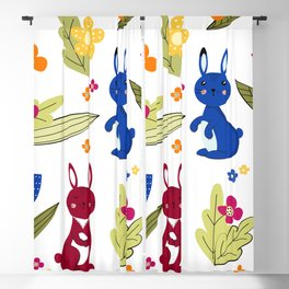 Rabbits pattern 1 Blackout Curtain