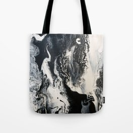 Black and White Marble Tote Bag