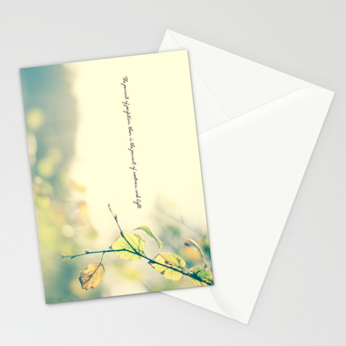 The Pursuit of Perfection Stationery Cards