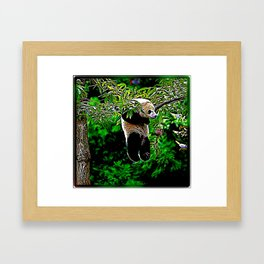 Bear Models: Panda Bear Cubs 01 Framed Art Print