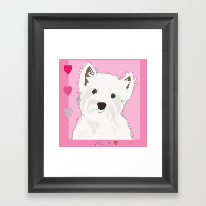 West Highland Terrier Gerahmter Kunstdruck