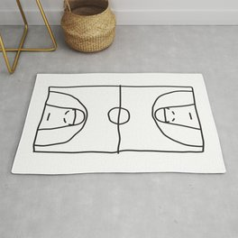 Basketball in lines Rug