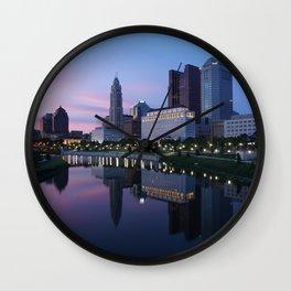 Columbus, Ohio Skyline at Dusk Wall Clock