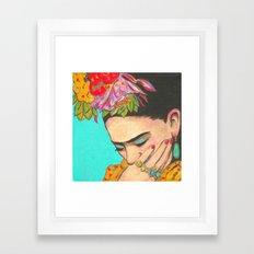 FRIDA KAHLO THINKS  Framed Art Print