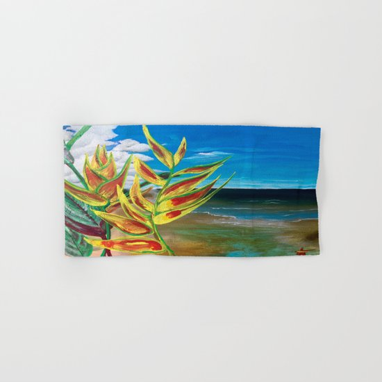 Heliconia Tropical Parrot Plant Take Me There Hand & Bath Towel