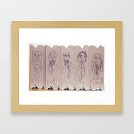 Dreadful Werecreatures on Cardboard Framed Art Print