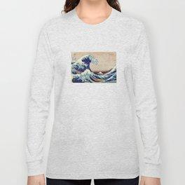 Katsushika Hokusai The Great Wave Off Kanagawa Long Sleeve T-shirt