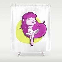 virgo Shower Curtains featuring Virgo by Chiara Zava