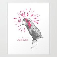 Contemptuous parrot Art Print