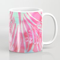 aelwen Mugs featuring Blue Water Hibiscus Snowfall by Vikki Salmela