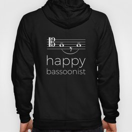 Happy bassoonist (dark colors/tenor clef) Hoody