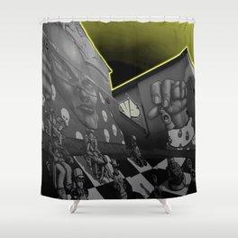 Hip hop Chess Wall Shower Curtain