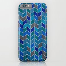 Blue and grey hue chevron Slim Case iPhone 6s