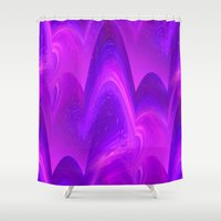 pantone Shower Curtains featuring Waves - Pantone Series by Bella Mahri-PhotoArt By Tina