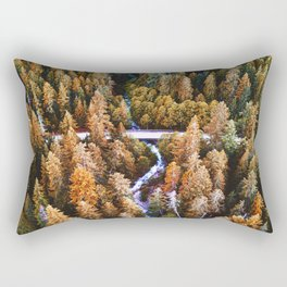forest aerial view in yosemite Rectangular Pillow