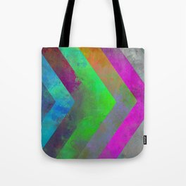 Textured Direction - Abstract, multi coloured, geometric painting Tote Bag